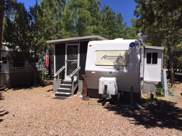 Site # 64 Trailer Holiday Rambler 31' 2000 Price  $10,500. 2018 Season PAID